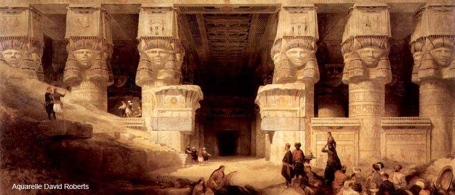 6174f72f6ade64 Le temple d Hathor Ta Iounet ta neteret «Héliopolis » fut appelé neteret «  en égyptien », puis Tentyris «en grec » et enfin Dendérah « en arabe », il  couvre ...